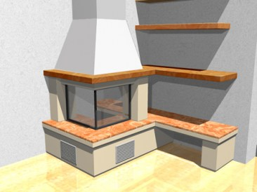 Individual 3D projects of fireplaces made by ArtPro Design.